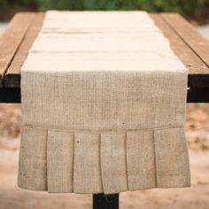 108-inch Burlap Ruffle Table Runner