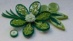 Green quilled flower