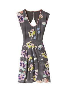Rebecca Taylor Wild Rose Mini Dress - Love the oversized rose print of this vintage-inspired dress. Scooped neckline, sassy bare back, curved seaming and mini length. Was $350, now $140.