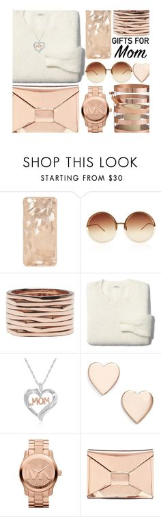 """""""Rose Gold for Mom"""" by juliehalloran ❤ liked on Polyvore featuring Linda Farrow, Repossi, Madewell, Amanda Rose Collection, Poppy Finch, Michael Kors, Banana Republic and Arteriors"""