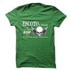 ESCOTO RULE\S Team  - #blue shirt #cardigan sweater. ORDER NOW => https://www.sunfrog.com/Valentines/ESCOTO-RULES-Team-.html?68278