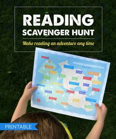 Free Printable: Kids Reading Scavenger Hunt - my kids loved checking off all 25 items! #worksheets #reading
