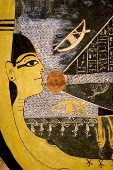 Decoration detail: Tomb of Ramses VI, Kings Valley, Luxor West Bank, Egypt