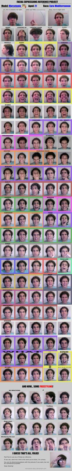 Ultimate Expression Sheet by ~Marcotonio-desu on deviantART http://marcotonio-desu.deviantart.com/art/Ultimate-Expression-Sheet-393628162