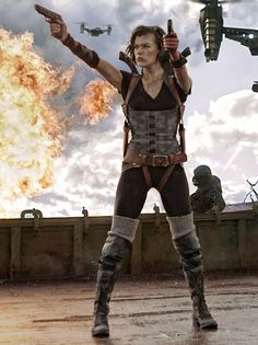 "Movie Review: ""Resident Evil: Retribution"" (2012) - Nothing in ""Resident Evil: Retribution"" makes sense. Not even the tagline, 'Evil Goes Global'. It's been global for the past couple of sequels! What else is new? Apparently, nothing in this movie, because most of it is ripped off from other movies."