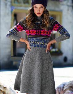 Victoria's Secret Fair Isle Turtleneck Sweaterdress