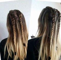 New Hair Cuts Degrade Blondes Ideas - braids Grad Hairstyles, Pretty Hairstyles, Braided Hairstyles, Pinterest Hair, Purple Hair, Hair Looks, Hair Trends, Selena Gomez, New Hair