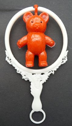 1950s Somersaulting Teddy Rattle in Fab Original Packet