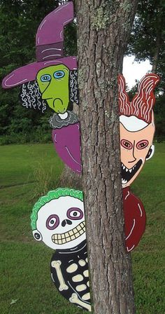 #2 Nightmare Before Christmas Peeker Halloween Yard Art Decoration