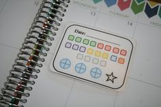 21 Day Fix Tracker Coil Clip In Laminated Dashboard / Erin Condren Limelife Plum Paper Planner (6.00 USD) by TrulySimplePlanners