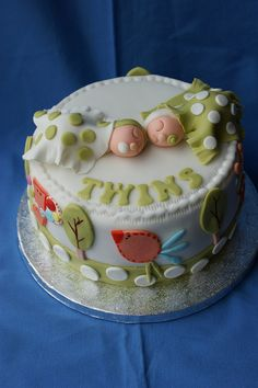 Love this twin cake shared by www.twinsgiftcompany.co.uk