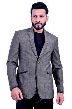 Modern Grey Blazer for Men Reception Suits, Blazer Suit, Suit Jacket, Blazers For Men, Wedding Suits, Formal Wear, Cotton Linen, Tuxedo, That Look
