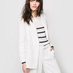 Veste double boutonnage col tailleur Atelier R | La Redoute (veste soldée 40€, pantalon large soldé 28€