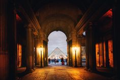 No matter how you approach the Louvre it is impressive. The entire building is the Louvre — that pyramid bit is just the entrance. I remember when I was a kid and they built that pyramid bit and how controversial it was. Now I can't imagine this place without it! It would be even better if there was total symmetry with all the interdependent hallways (*ahem*!) - Paris, France - Photo from #treyratcliff Trey Ratcliff at http://www.StuckInCustoms.com