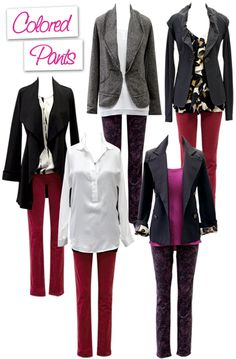 Colored pants were the hottest trend of the spring and summer, and continue making a splash this fall & winter!