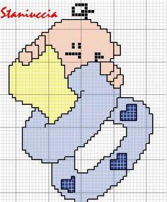 Schema punto croce Ciuccio