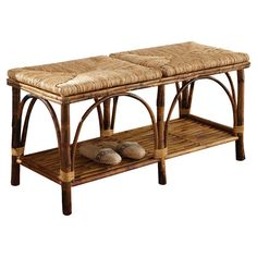 rattan bedroom bench
