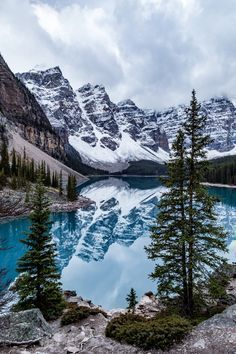 The stunning Moraine Lake in Banff National Park, Canada. I have this exact picture that I took myself!