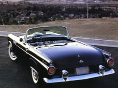 1955 Ford Thunderbird Roadster Black Rvl #cars #coches
