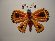 Beaded butterfly. Master class with step by step photos