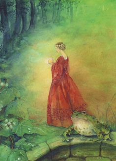 The Frog Prince - Click to see 24 Grimm's Fairy Tales Postcards illustrated by Daniela Drescher (Series A, Series B, Series AB)