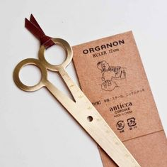 "ORGANON ""scissors"" bookmark/ruler"