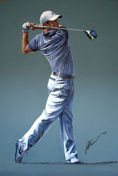 Rory McIlroy Portrait By Mark Robinson