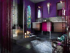 WOW Purple Bathroom Interior Beloved Bathrooms Luxury Bathroom Design Luxury ...