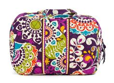 Vera Bradly Grand Cosmetic in Plum Crazy * You can get more details here : Travel cosmetic bag