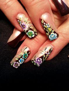 A miniature still life. Nail Polish Designs, Nail Designs, Nails Magazine, My Nails, Miniatures, Nail Art, Life, Nail Design, Nail Arts