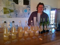 Indaba Chenin Blanc 2013 in the works! Winemaker Bruwer Raats spending the morning finding the perfect blend of Chenin grapes to deliver to your glass.