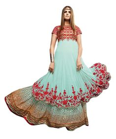 buy saree online Sea Green Colour Net Embroidered Designer Lehenga Suit Buy Saree online - Buy Sarees online