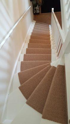 Sisal trap alleen de treden bekleden met sisal en ondertapijt trapbekleding met sisal - Corridor schilderen ...