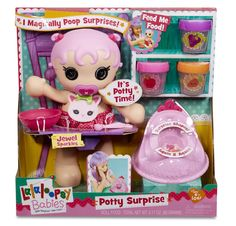 The Lalaloopsy Babies Potty Surprise Doll - The Doll That Sh**s Shapes! Read more from RachelSwirl on her parenting & lifestyle blog.