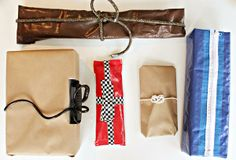 Neat wrapping ideas for dudes!