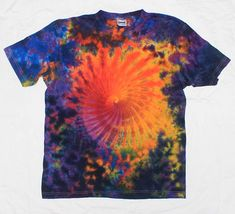 Hey, I found this really awesome Etsy listing at https://www.etsy.com/listing/506641467/tie-dye-sun-spiral-tshirt-colored-shirt