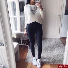 outfits pantalon negro
