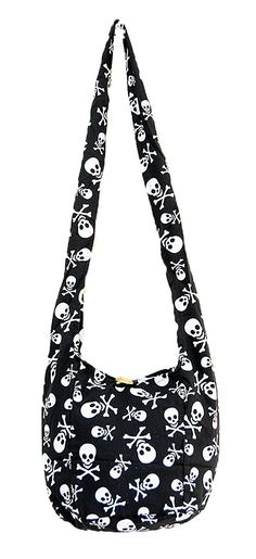 1524c5d9cb Thai Hippie Hobo Sling Crossbody Shoulder Bag Purse Handmade Skull Cotton  Gypsy Boho Messenger Small     More info could be found at the image url.