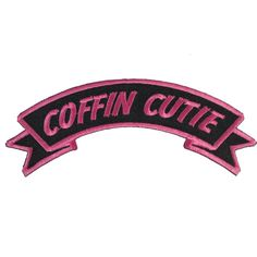 Kreepsville 666 COFFIN CUTIE iron on patch goth emo horror psychobilly Punk Patches, Pin And Patches, Iron On Patches, Jacket Patches, Howleen Wolf, Draculaura, Grunge, Catty Noir, Lines Quotes