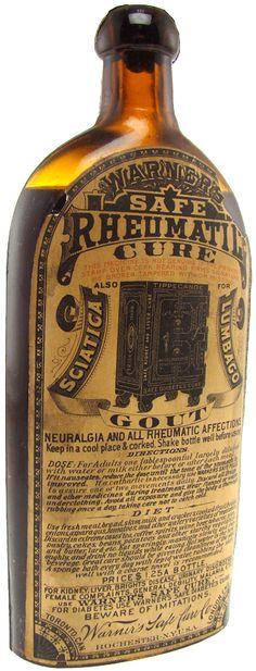 Warner's Safe Rheumatic Cure with Original Label