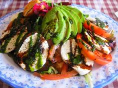 Caprese Salad Vine ripened tomatoes, and fresh mozzarella cheese ...