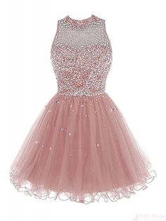 Bbonlinedress Short Tulle Beading Homecoming Dress Prom Gown Champagne -- Be sure to check out this awesome product-affiliate link. Homecoming Dresses 2017, Cute Prom Dresses, Grad Dresses, 15 Dresses, Pretty Dresses, Beautiful Dresses, Evening Dresses, Dress Prom, Prom Gowns
