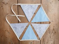 Pastel Blue and Lace Grey 'Benjamin' Bunting by annasbluebellblue Garland Nursery, Nursery Decor, Bunting Banner, Banners, Etsy Handmade, Handmade Gifts, Pastel Blue, Small Businesses, Photo Props