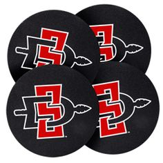95b3198ce SD Spear Coasters Set of four round nylon coasters featuring the updated  interlocking SD Spear logo. $18