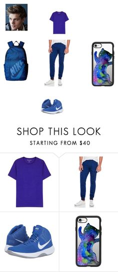 """Xavier Gym Day 1"" by karistagrier on Polyvore featuring Derek Rose, PRPS, NIKE, Casetify, men's fashion and menswear"