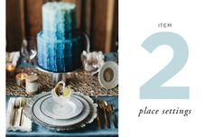 How to Style a Wedding Table // By Cassandra LaValle // Item Two: Place Settings