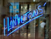 Hamilton's on Main, where John and Jeannie go for dinner. (The restaurant always offers a terrific veggie blue plate special on the lunch menu.)