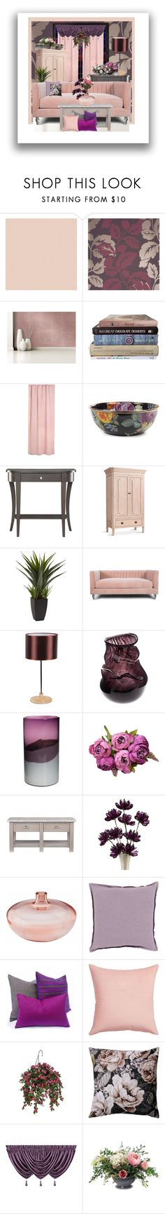 """Lavender Fairy's Lament"" by nefertiti1373 on Polyvore featuring interior, interiors, interior design, home, home decor, interior decorating, Devine Color, MacKenzie-Childs, Convenience Concepts and Redford House"