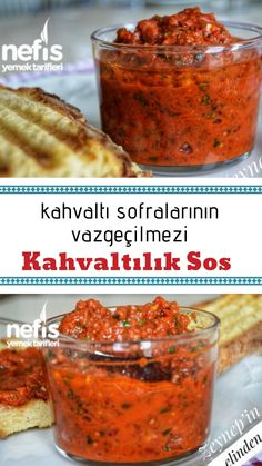 Kahvalt l k Sos Tarifi nas l yap l r 12 314 ki inin defterindeki Kahvalt l k Sos Tarifi nin resimli anlat m ve deneyenlerin foto raflar burada Yazar Zeynep in Elinden Breakfast And Brunch, Turkish Breakfast, How To Make Breakfast, Breakfast Sauce Recipe, Breakfast Recipes, Yummy Recipes, Sauce Recipes, Yummy Food, Bread Recipes