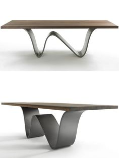 Table design Steel table legs Dining table – Tables and desk ideas Steel Table Legs, Dining Table Legs, Modern Dining Table, Steel Dining Table, Table Furniture, Cool Furniture, Furniture Design, Concrete Table, Wood Table